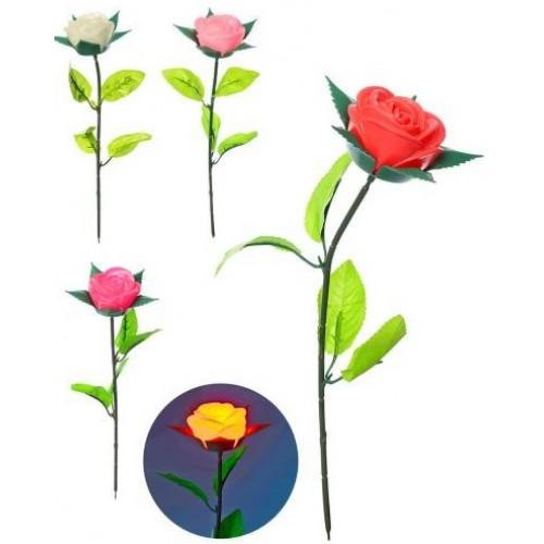 Троянда 37 см зі світлом, мікс кольорів, в кульку (240) №MK2064