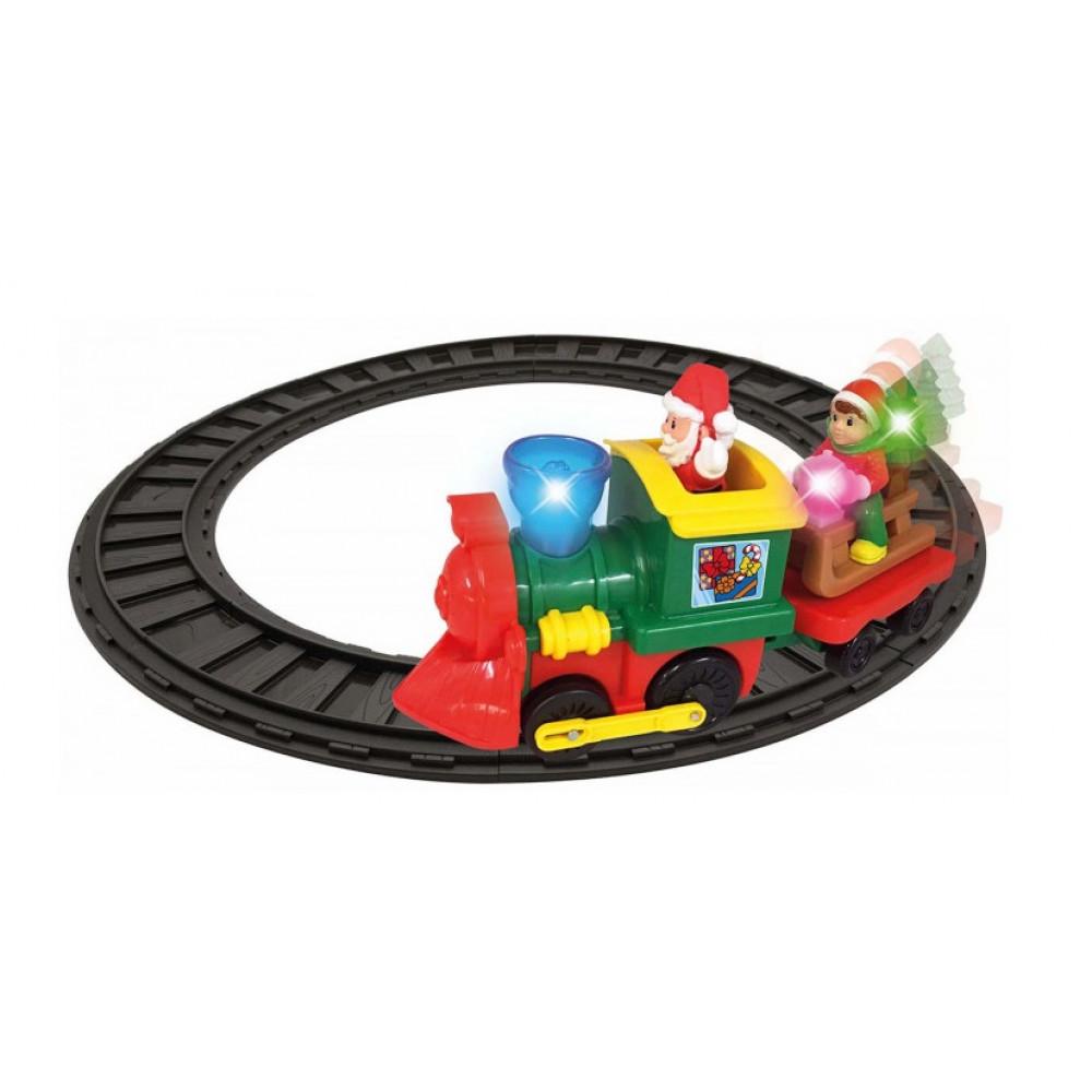 Игровой набор Рождественский экспресс Kiddisvit с железной дорогой, свет, звук №056770