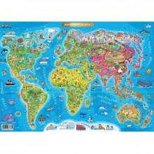Карта Світу дитяча А2 Ранок 3762