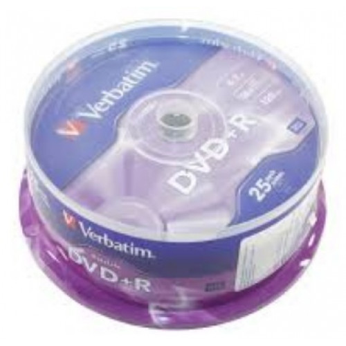 DVD+R 16х4.7Gb/120min Verbatim Data Life штырь (25) №8311