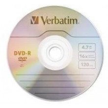 DVD-R 16х4.7Gb/120min Verbatim Data Life Jacket (1) (50)