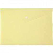 Папка-конверт Axent A4 Pastelini на кнопке желтая (12) 1412-08