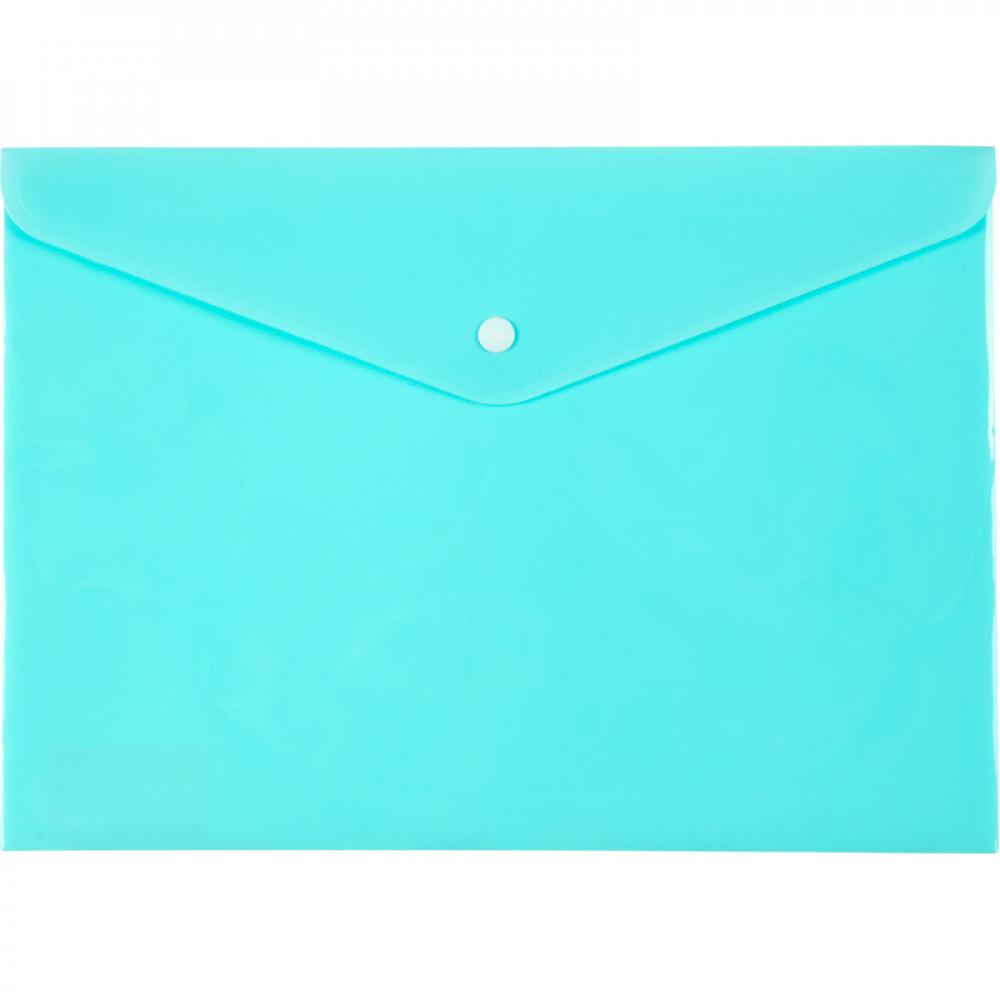 Папка-конверт Axent A4 Pastelini на кнопке мятная (12) №1412-18