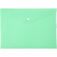 Папка-конверт Axent A4 Pastelini на кнопке нео-мятная (12) 1412-09