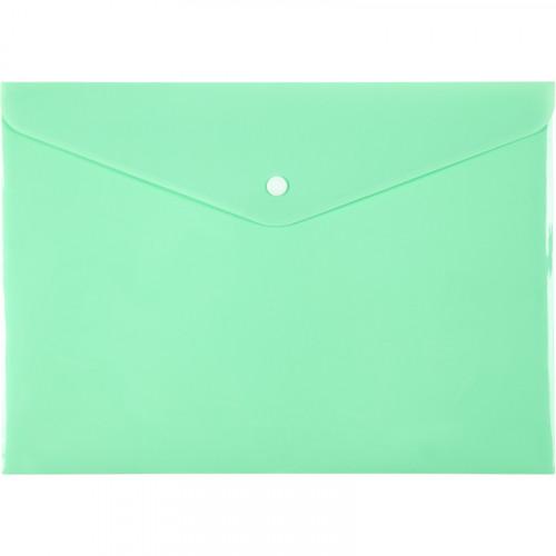 Папка-конверт Axent A4 Pastelini на кнопці нео-м'ятна (12) 1412-09