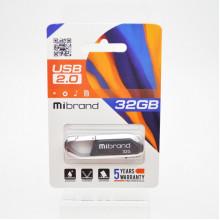 Флэш-память 32GB Mibrand Aligator USB 2.0 grey №0235