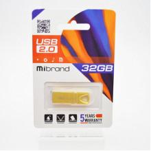 Флэш-память 32GB Mibrand Taipan USB 2.0 gold №1362