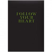 Ежедневник A5 Brunnen HK недатированный Агенда Follow yuor heart  73-796 60011