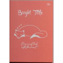 Блокнот A5 40 листов без линовки Profiplan Bright Title note fox№902538