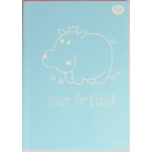 Блокнот B6 40 листов без линовки Profiplan Spoony hippo 902781