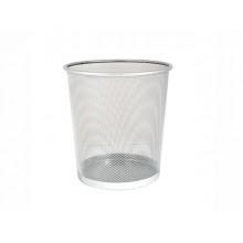Корзина для паперу Leader середня металева срібляста (20) PS06/Z014/613410