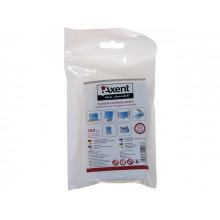 Салфетки влажные для очистки экранов Axent 100шт переменные №5312