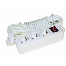 Подовжувач Svittex SV-011 3 гнізда 5м 16А 2,5кВт +вимикач+заземлення