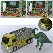 Трейлер 22 см, динозавр 21 см, звук, светится, в коробке 31х20х13см (12) №624001-01-02-06
