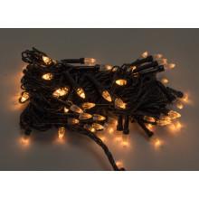 Гирлянда электрическая String Конус 100 LED белый теплый, черный провод (100) №1210-07