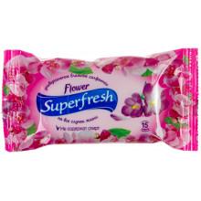 Серветки вологі Super Fresh Flower 15 шт (120)
