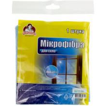 """Серветка мікрофібра для скла """"Помічниця"""" 35 х30 см (80) №5771"""