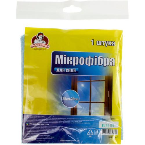 """Салфетка микрофибра для стекла """"Помічниця"""" 35 х30 см (80) №5771"""