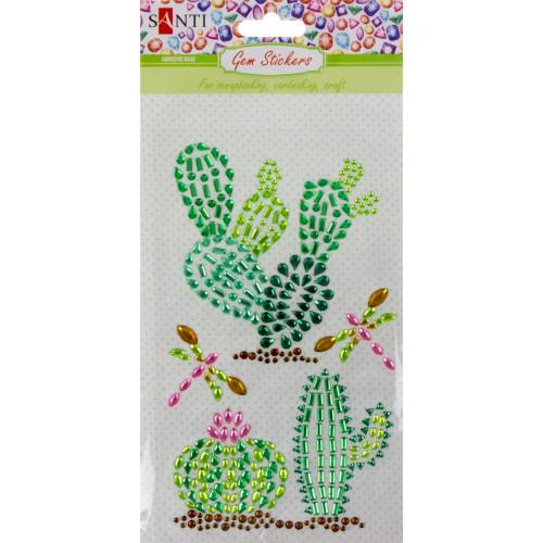 Набір аплікацій з кристалів самоклеючих Santi Trendy Cactus 9,5х15 см (10) №742536
