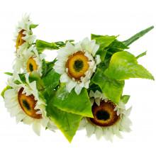 Букет Соняшник білий 45 см 7 квітів FA15