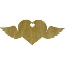 Сердце с крыльями 7х18 см фанера (5)