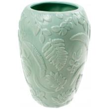 Ваза керамічна Bonadi h-18 см Флора з об'ємним декором м'ятна (12) №727-122
