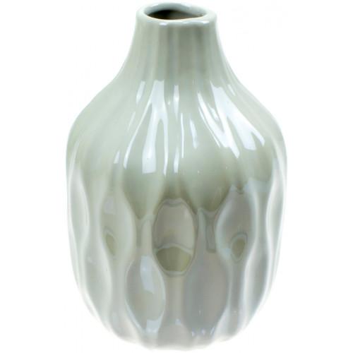 Ваза керамическая Bonadi h-15,6 см, белый перламутр (2) (32) №795-400