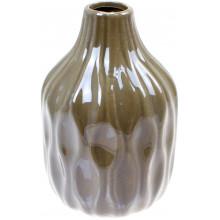 Ваза керамічна Bonadi h-15,6 см, сірий перламутр (2) (32) №795-401