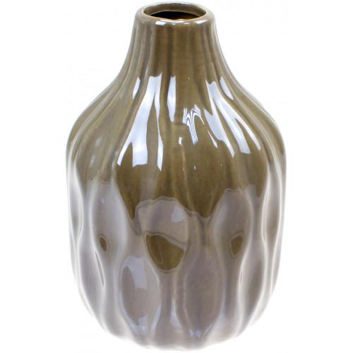 Ваза керамическая Bonadi h-15,6 см, серый перламутр (2) (32) №795-401