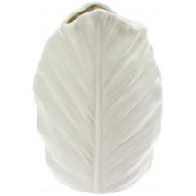 Ваза керамічна Bonadi Лист h-18,5 см, біла (24) №727-214