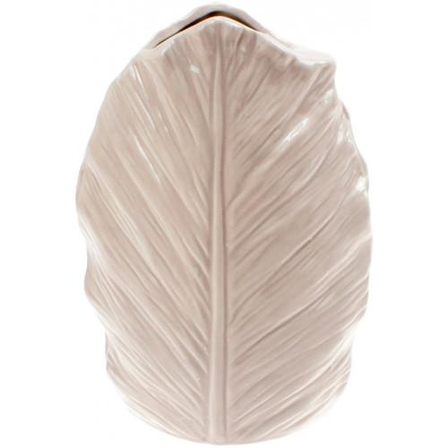 Ваза керамічна Bonadi Лист h-18,5 см, бежева (24) №727-215