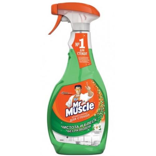 """Средство для мытья стекол """"Мистер Мускул"""" 0,5 л (курок) Утренняя роса (12)"""