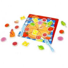 Двусторонняя магнитная игра Пицца №3579