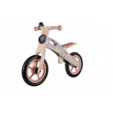 Біговел дитячий дерев'яний Lionelo Loe-Casper колеса Eva, з ручками для перенесення, рожевий