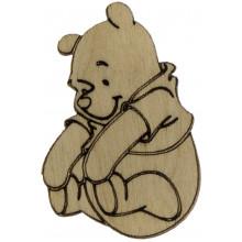 Ведмідь Вінні Пух 6х4 см фанера (5)