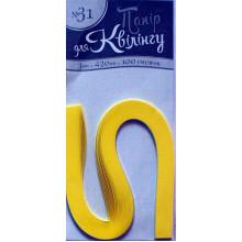Бумага для квиллинга Рюкзачок №31 3х420 мм желтая (20) №УП-208