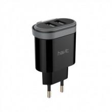 Зарядний пристрій Havit для мобільного телефону 2 USB, Lightning cable black HV-UC8809/7911