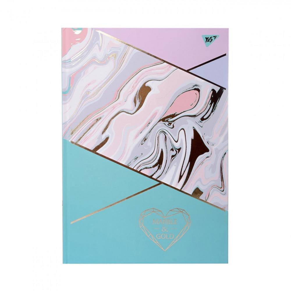 Тетрадь A4 96 листов линия YES Marble&Gold матовая ламинация, фольга золото и УФ-лак 7 БЦ (3) №151595
