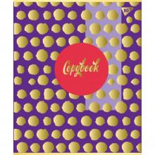 Зошит А4 96 аркушів клітинка Yes Flower матовий ВДЛ + софт-тач + фольга золото (3) №891472