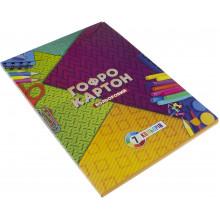 Картон цветной А4 7 листов Гофрированный Тетрада (10)