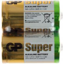 Батарейки GP 14A Super-S2 LR-14 плівка 2 шт (12) (120)