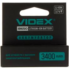 Аккумулятор VidexLi-ion 18650-R, 3400 mAh, защита