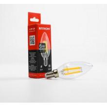 Лампа Etron Filament Power прозрачное стекло LED 1-EFP-126 C37 6Вт 4200K Е14 (10)