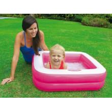 Бассейн детский 85х85х23см высота борта 18см, 2 цвета, в коробке 23х20,5х6см (6) №57100