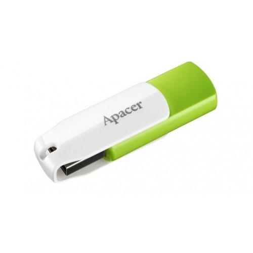 Флеш-память 64GB Apacer AH335 USB 2.0 green/white №4361