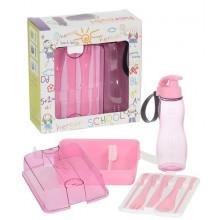 Набор детский 3 предмета Herevin Maxx Pink пластиковый №47990/25868