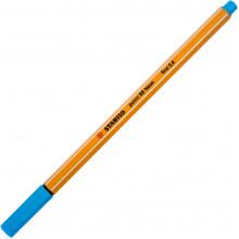 Файнлайнер Stabilo 88 0,4 мм fluorescent blue/флуоресцентный синий (10) №031