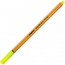 Файнлайнер Stabilo 88 0,4 мм neon yellow/желтый неон (10) №024