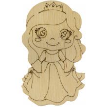 Принцеса 10х6 см фанера асорті (5)