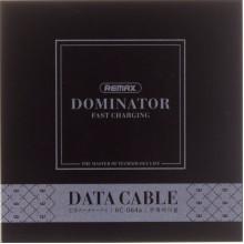 Кабель з'єднання (USB 2,0>Type-C) Remax Dominator RC-064a black 1 m